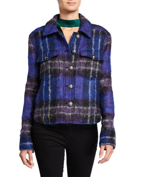 Veronica Beard Emmons Plaid Wool-Blend Jacket
