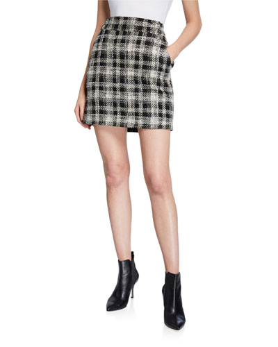 Arezzo Plaid Skirt