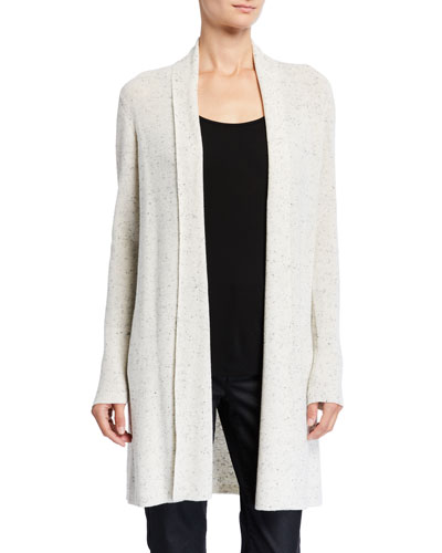 Speckled Organic Cotton Kimono Cardigan