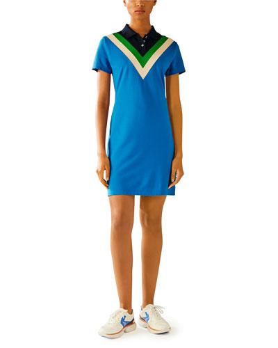 Chevron Polo Dress