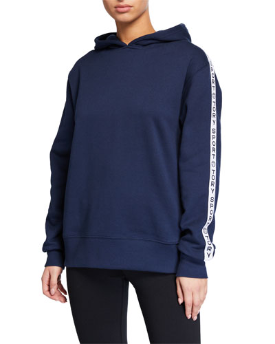 French Terry Oversized Logo Banner Hoodie