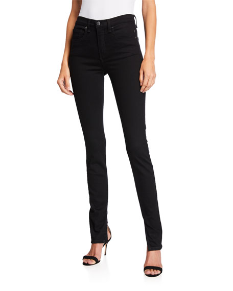 Veronica Beard Jeans Kate High-Rise Skinny Jeans with Splits