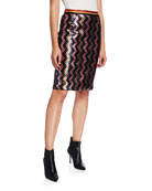 Le Superbe Sundowner Sequined Chevron Skirt