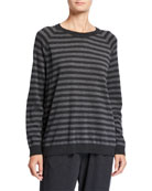 Eileen Fisher Striped Long-Sleeve Cozy Sweater and Matching