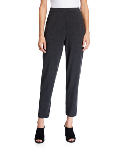 Petite Slouchy Jersey Ankle Pants