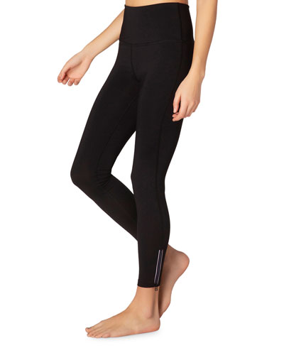 Zip By High-Waist Midi Leggings