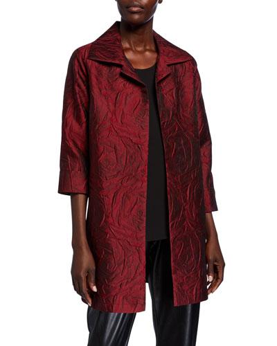 Rose Cloque Party Jacket