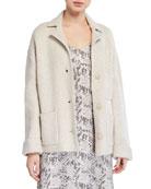 ATM Anthony Thomas Melillo Novelty Blend Sweater Jacket