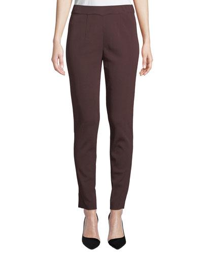 Plus Size Easy Knit Straight-Leg Pants