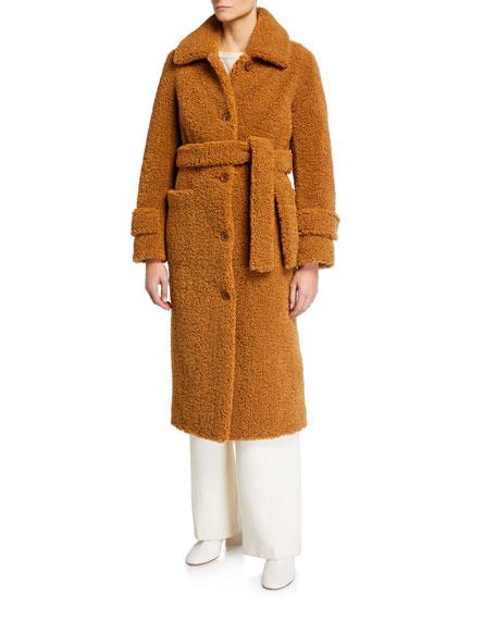 STAND Lottie Faux-Shearling Coat