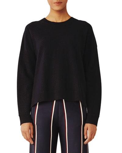 Lightweight Wool High-Low Top