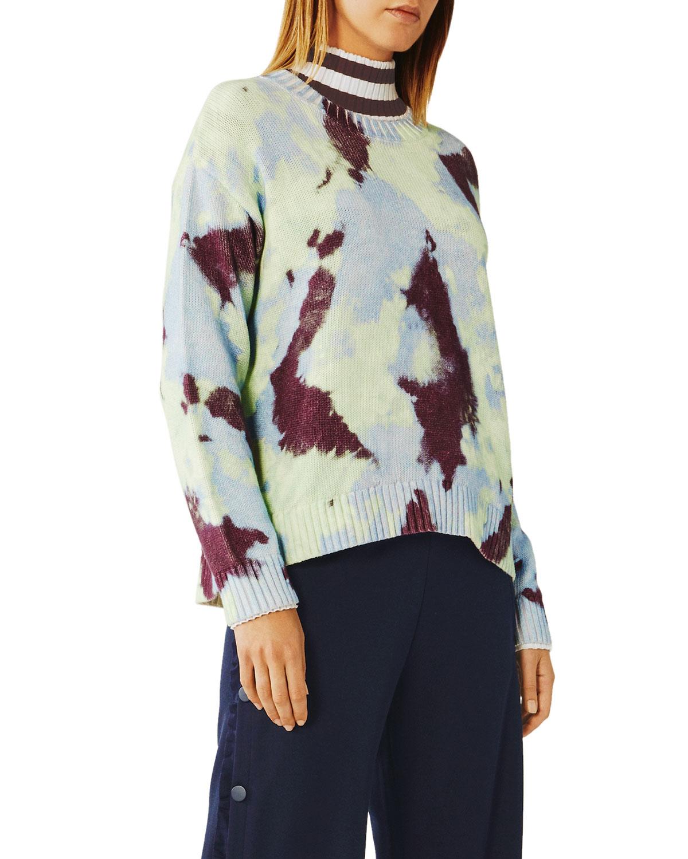 Tory Sport Sweaters TIE-DYE COTTON SWEATER
