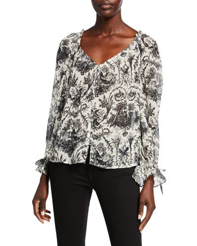 Kiki Printed Silk Blouse