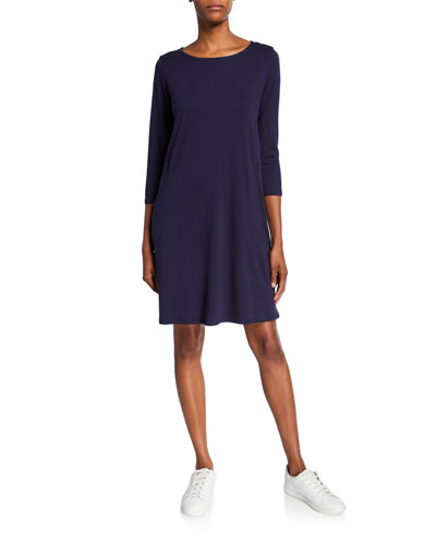 Petite Lyocell Jersey 3/4-Sleeve Dress
