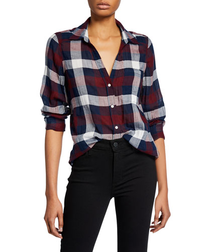 Neve Button-Down Plaid Shirt
