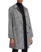 kate spade new york leopard print button-front hooded