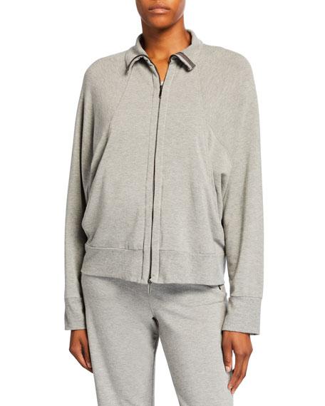 Max Mara Leisure Zip-Front Dolman Sleeve Jersey Track Jacket
