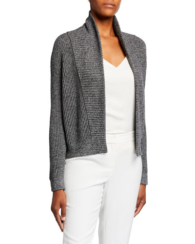 Ribbed Virgin Wool Cardigan