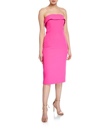 Georgia Strapless Fold-Over Cocktail Dress