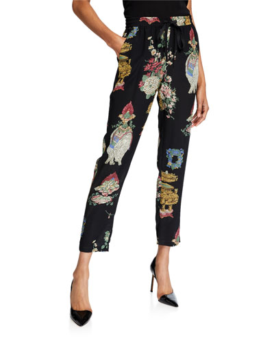 ae7f69fe3 Quick Look. REDValentino · Chinoiserie Lacquer Printed Drawstring Pants.  Available in Black