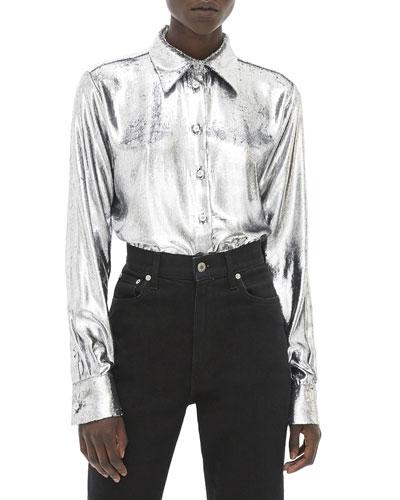 Metallic Velvet Shirt