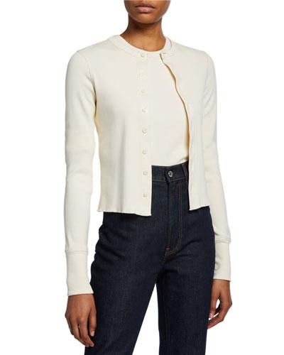 Femme Button-Front Slim Cardigan