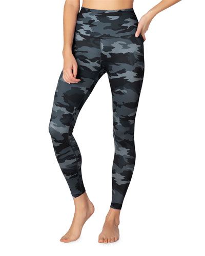 Lux Printed High-Waist Midi Leggings