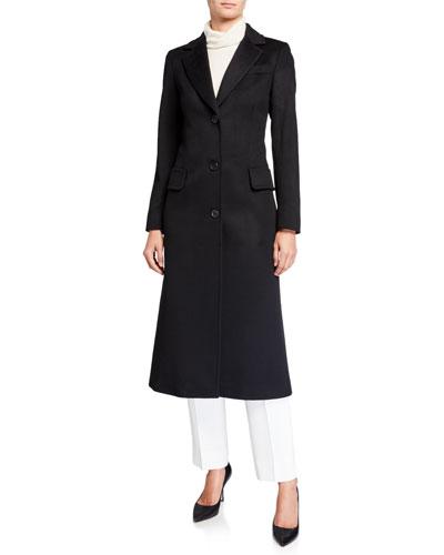 Cashmere 3-Button Maxi Coat