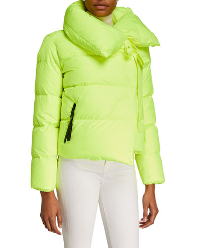 Puffa Oversized Asymmetric Down Jacket