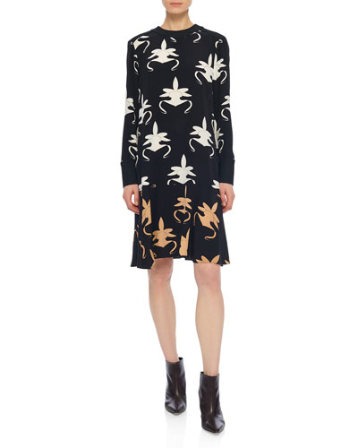 Ghost Orchid Printed Drop-Waist Dress