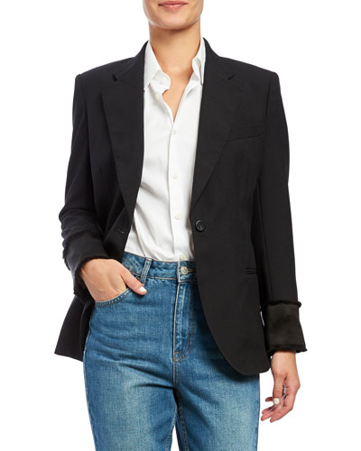 Cinched Wool Blazer