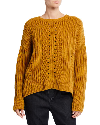 Lofty Recycled Cashmere Stitch Sweater