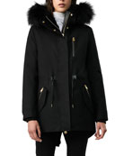 Mackage Chara Fur-Hood Semi-Fit Raincoat