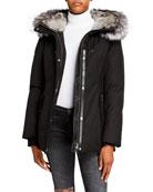 Mackage Larysa Fox Fur-Trim Hooded Jacket w/ Rabbit