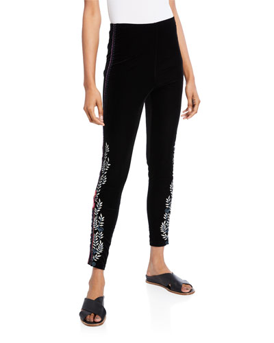 443bcfd112576 Black Polyester Spandex Leggings | Neiman Marcus