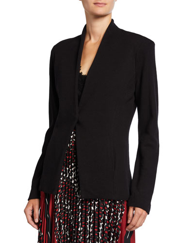 Plus Size Sleek Knit Jacket