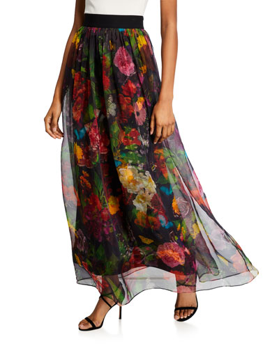 Yvonne Gathered Maxi Skirt