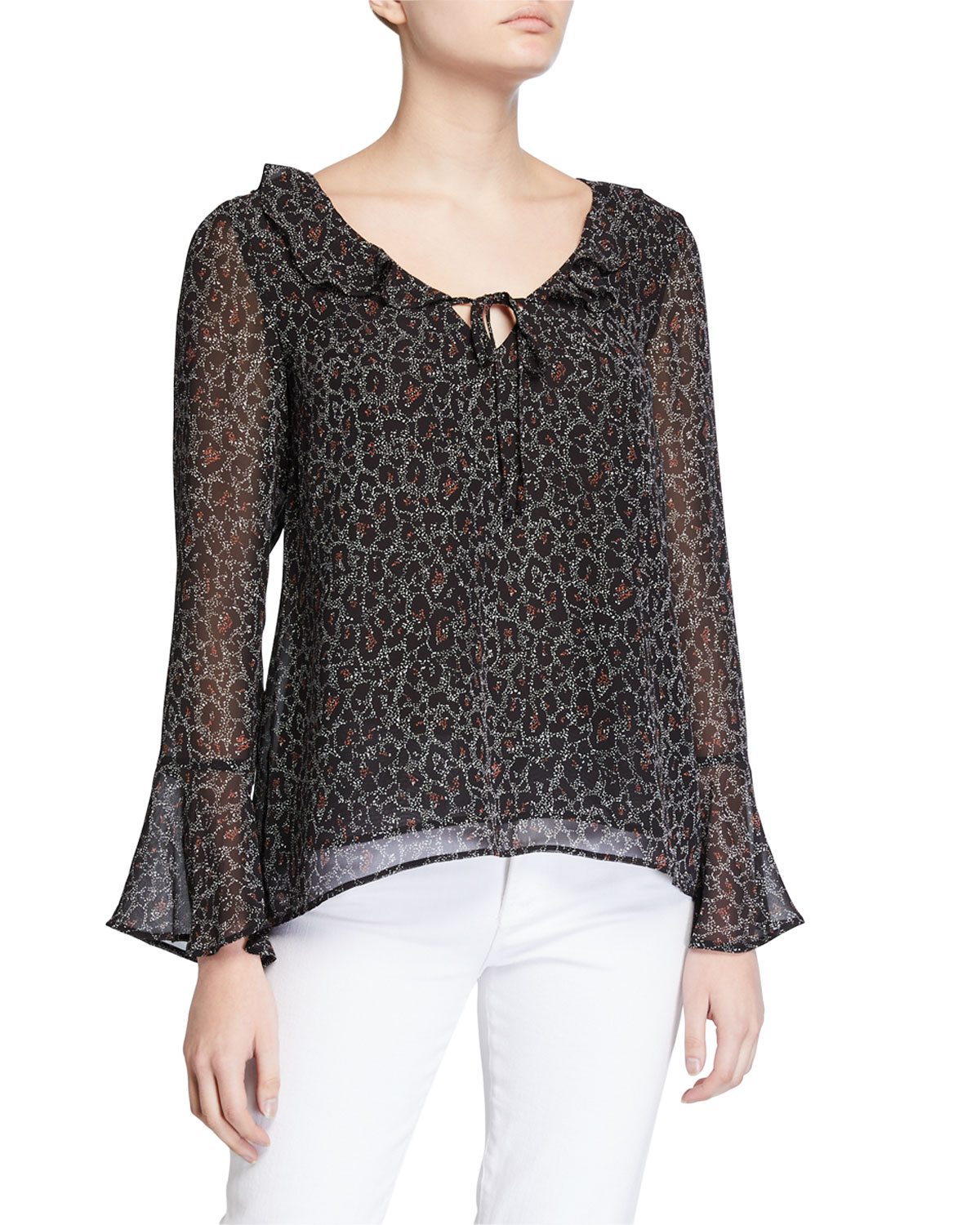 Cupcakes And Cashmere Tops MARSEILLE LEOPARD TOP