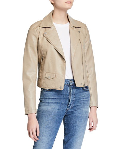 Ines Vegan Leather Moto Jacket
