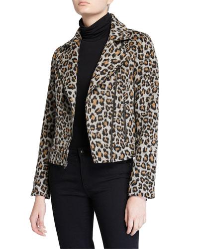 Margaux Leopard Moto Jacket