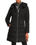 Mackage Lara Sparkly A-Line Midi Coat