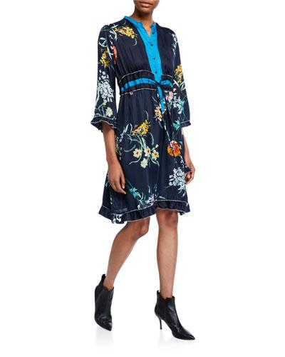 Plus Size Rosalie Silk Twill Dress