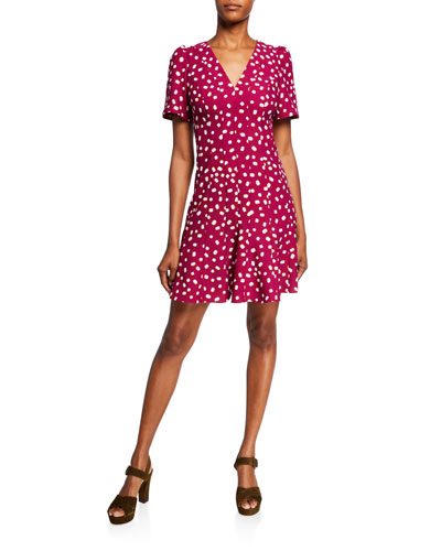 9ca8f2f3f7f4 Quick Look. kate spade new york · mallow dot short-sleeve crepe dress