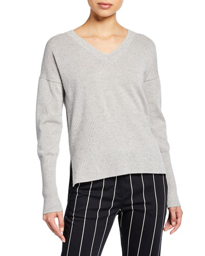 Wooster V-Neck Wool-Cashmere Sweater