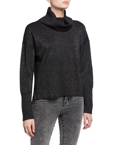Bond Metallic Turtleneck Sweater