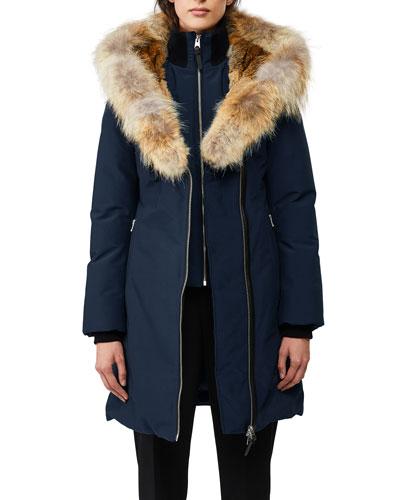Trish Fur-Hood Bib-Underlay Coat