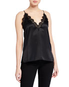 Cami NYC The Everly V-Neck Lace-Trim Silk Cami
