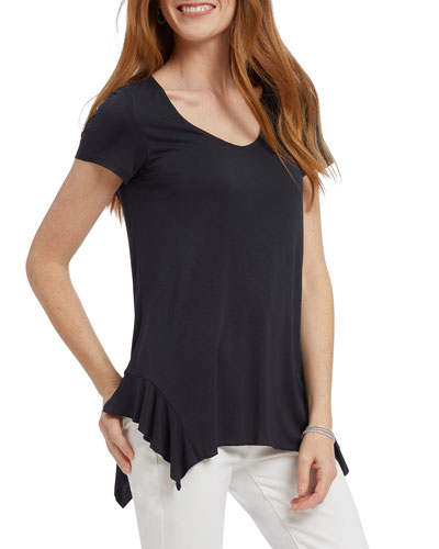 Boardwalk Short-Sleeve Ruffle Top