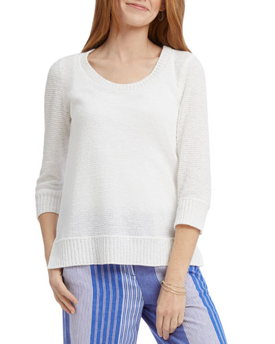 Plus Size On A Cloud 3/4-Sleeve Top
