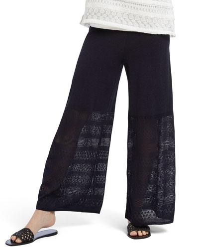 Honeymoon Wide-Leg Pull-On Pants